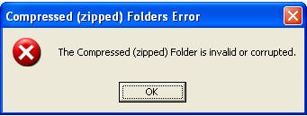 zip error