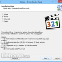 Programma Download di base del pacchetto di codec K-Lite (ultimo 2019) per Windows 10, 8, 7