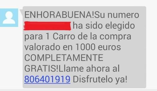 """Carrello del carrello gratuito """"larghezza ="""" 505 """"altezza ="""" 294 """"/> </p></noscript> <p> Un altro imbroglio classico è quello del carrello della spesa gratuito <strong> </strong>. Normalmente questi si presentano sotto forma di SMS e assicurano che ti sia stato assegnato un carrello della spesa straordinario <strong> del valore di 1.000 euro </strong> (o un importo simile). Per accedervi, devi semplicemente chiamare un numero di telefono, anche se come sempre, questo non è altro che una bufala. Se chiami ti terranno al telefono il più a lungo possibile in quanto è un numero di tariffa aggiuntivo. </p> <h2> <strong> WhatsApp Gold </strong> </h2> <p> <img   alt="""