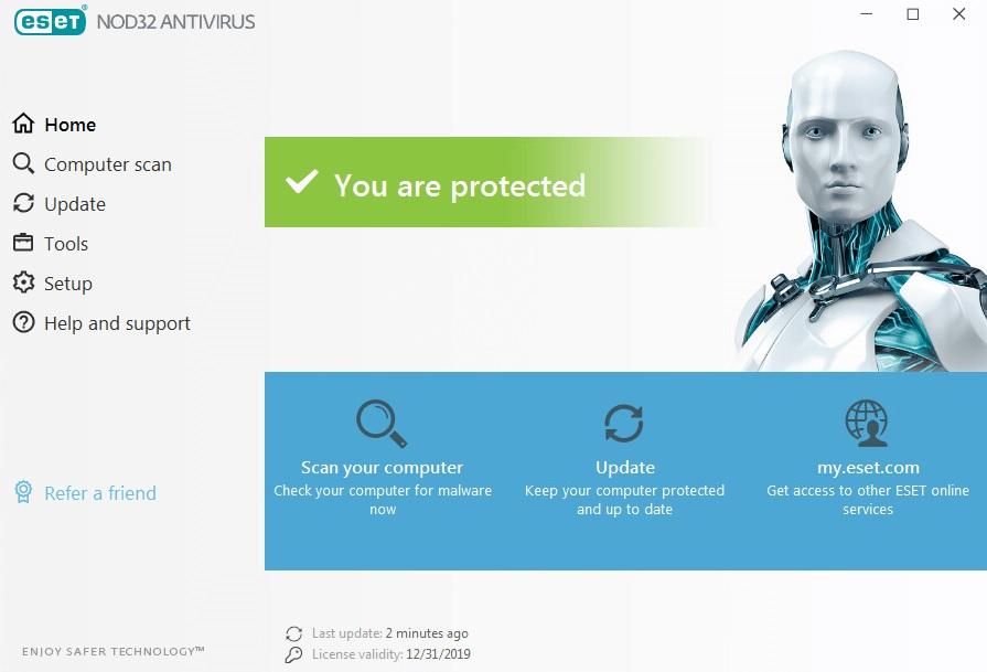 """Interfaccia antivirus ESET """"larghezza ="""" 640 """"altezza ="""" 435 """"/> </p></noscript> <p> <strong> ESET Antivirus </strong> potrebbe non essere l'opzione più conosciuta nel settore antivirus, ma non è meno efficiente. Siamo di fronte a un programma efficace <strong> </strong>altamente personalizzabile <strong> </strong> e con un gran numero di opzioni per garantire che la nostra attrezzatura sia sempre protetta. </p> <p> Se ESET Antivirus si distingue in qualcosa, è proprio nelle sue <strong> molte opzioni </strong> e modalità per i programmi che le analisi che effettueremo sul nostro team. Sebbene ciò sia molto completo, a volte <strong> può essere alquanto complesso per i nuovi utenti </strong> che preferiscono poche opzioni e buoni risultati. Tuttavia, delizierà gli utenti che preferiscono avere un antivirus su misura alla lettera. </p> <p> In termini di risorse, <strong> ESET Antivirus farà a malapena uso della tua CPU </strong>quindi puoi accenderla e funzionare o giocare al tuo videogioco preferito senza accorgerti che nessun rallentamento del tuo computer. Esistono <strong> tre versioni </strong> di questo stesso antivirus (ESET NOD32, ESET Internet Security e ESET Internet Security Premium), ognuna diversa solo da alcuni piccoli extra. Per questo motivo, in termini di rapporto qualità-prezzo, consigliamo ESET NOD32. Se lo desideri, puoi scaricare la versione di prova completamente gratuita in queste righe. </p> <p><!-- Start shortcoder --> </p> <p class="""