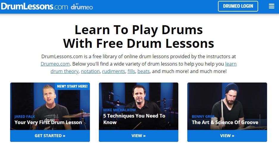 """Pagina delle lezioni di batteria """"width ="""" 600 """"height ="""" 362 """"/> </p></noscript> <p> <strong> Drum Lessons </strong> è un utile sito web dove troverai infiniti video per <strong> imparare a suonare la batteria </strong>. Questi sono offerti gratuitamente da alcuni insegnanti della Drumeo, una prestigiosa scuola di batteria dove puoi studiare online. </p> <p> In Lezioni di batteria troverai i <strong> video di base per principianti </strong> in modo che possano iniziare a impostare un buon ritmo con la batteria. Se ti piacciono i risultati, assicurati di dare un'occhiata a <strong> Drumeo </strong> per accedere al resto dei corsi online. </p> <p> Puoi visitare <strong> Lezioni di batteria </strong> facendo clic sul seguente <strong> link </strong>. </p> <p> Ci auguriamo che la nostra selezione di app e risorse online ti aiuterà quando inizierai a suonare uno strumento. <strong> Qual è il tuo strumento preferito? </strong> Condividilo con noi nella sezione commenti! </p> <p class="""