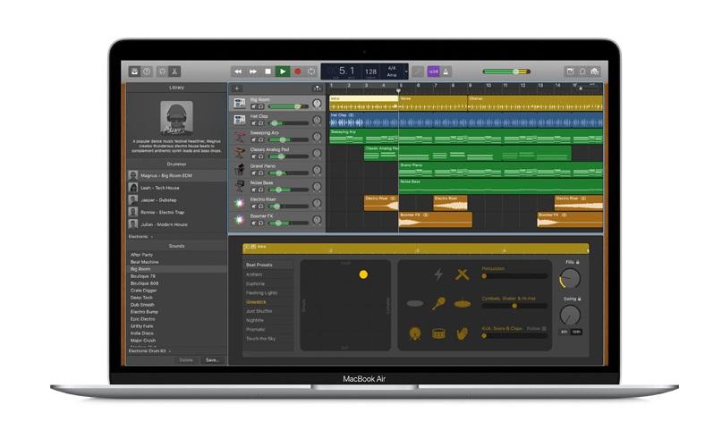 """Garageband """"width ="""" 600 """"height ="""" 358 """"/> </p></noscript> <p> Garageband è conosciuto come il programma di punta di Apple grazie al quale possiamo tutti <strong> comporre musica </strong>. Infatti, Rihanna ha composto il suo famoso """"Ombrello"""" utilizzando questa applicazione. </p> <p> Ma Garageband è molto più di un programma per comporre, è anche un'ottima app per imparare a suonare lo strumento che vogliamo. Dall'app t <strong> avrai a tua disposizione un'autentica orchestra </strong> di strumenti virtuali con cui potrai esercitarti e lasciarti andare con quelli che più ti piacciono. </p> <p> L'unico inconveniente di Garageband è che, in quanto tale, l'app non offre tutorial per imparare a riprodurli come tali. Consente solo a <strong> di essere in grado di usarli tutti </strong> senza il fastidio di dover andare in un negozio e comprarli. Un altro punto che potrebbe deludere molti è che <strong> è disponibile solo per dispositivi con macOS e iOS </strong>. </p> <p> Puoi <strong> scaricare Garageband </strong> velocemente e comodamente sotto queste righe. </p> <p class="""